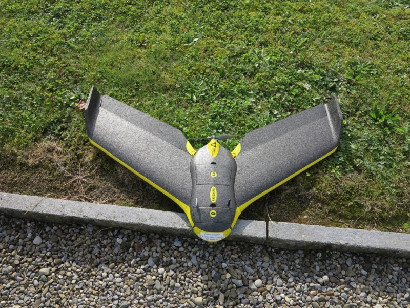 Vermessung und Geomatik: Drohnenvermessung mit Einlügler