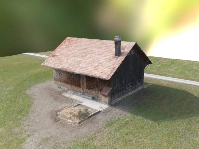 Geomatik und Vermessung: 3D-Visualiserung aus Gebäudeaufnahme mit Drohne